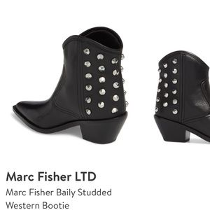Marc Fisher studded weather bootie 7.5